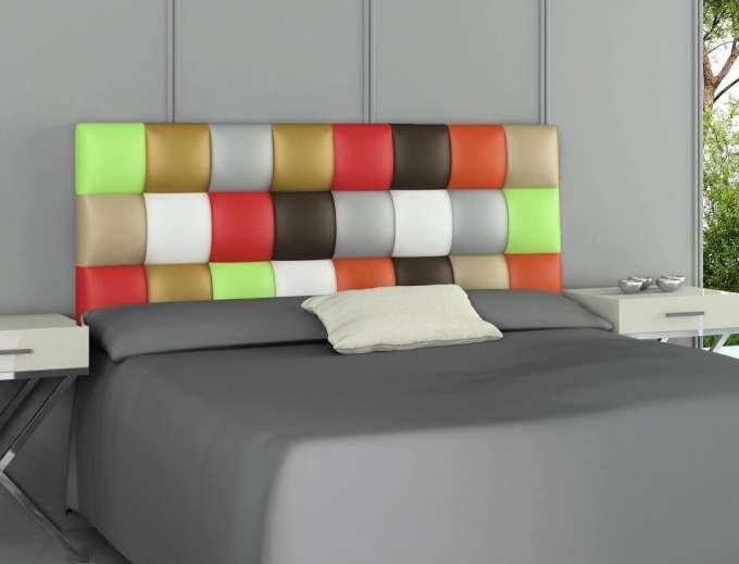 Cabecero de diseño Paschwork Multicolor.